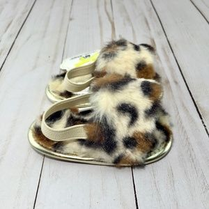 Stepping Stones Leopard Slingback Sandals